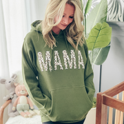 MAMA Leopard Olive Hoodie