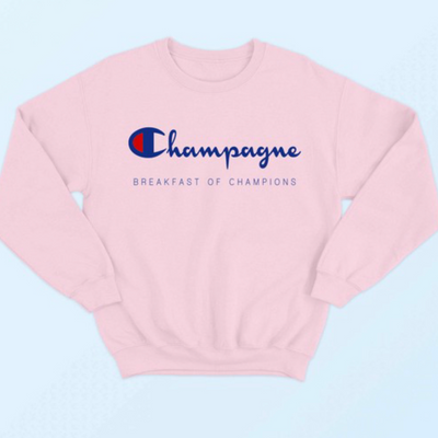 Champagne Breakfast of Champions Women's Sweatshirt