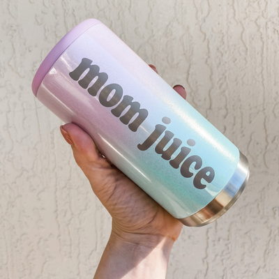 Mom Juice Skinny Can Cooler - Ombre Seablush