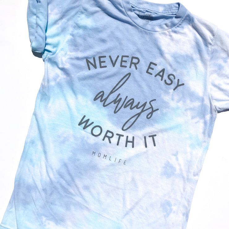 Worth It Tie Dye Tee - Blue