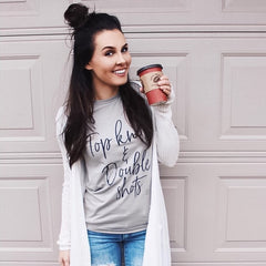 Top Knots & Double Shots Tee