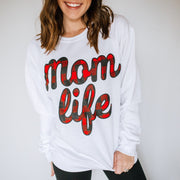 MOMLIFE Buffalo Plaid Sweatshirt