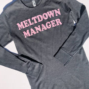 Meltdown Manager Thermal Pullover - Charcoal w/ Blush Glitter - (PREORDER)