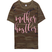 Mother Hustler Camo Tee w/ Blush Glitter Print