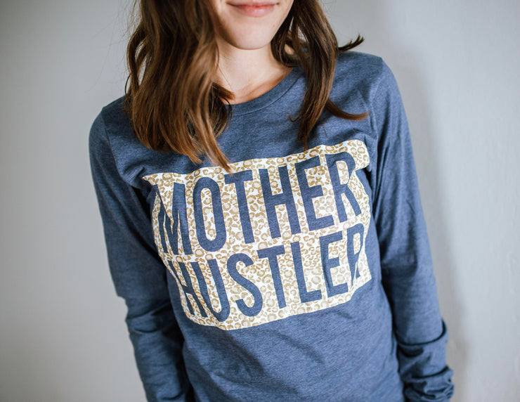 Mother Hustler Metallic Cheetah Pullover Tee