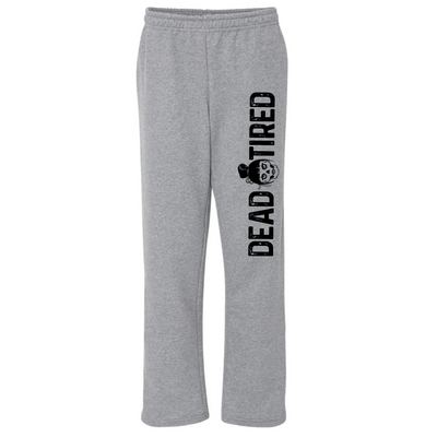 Dead Tired Open Bottom Sweatpants (PREORDER)