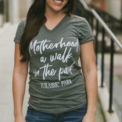 Walk In The Park Tee - Gray