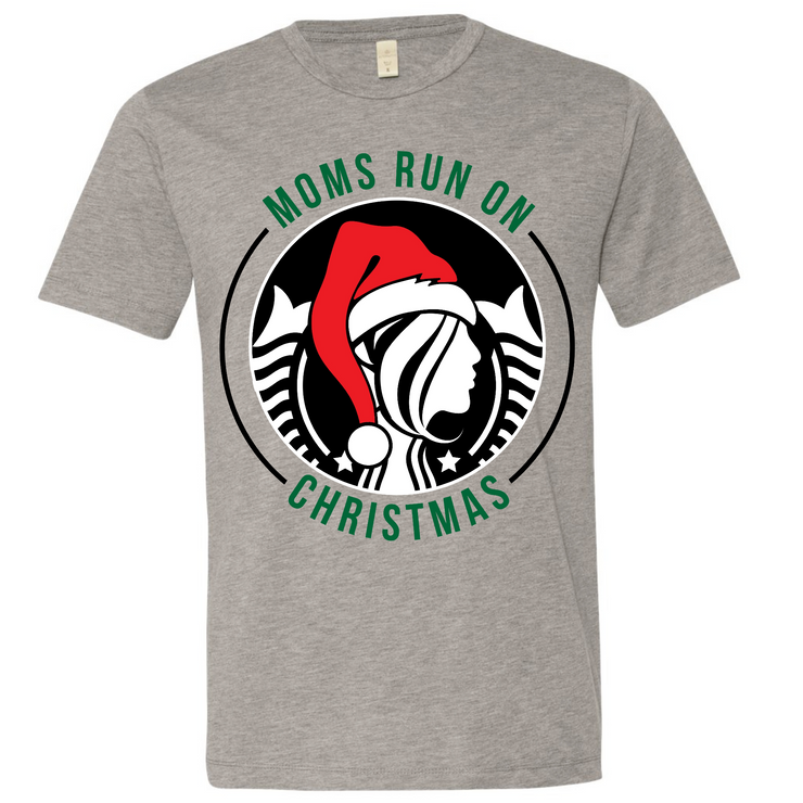 Moms Run On Christmas Tee