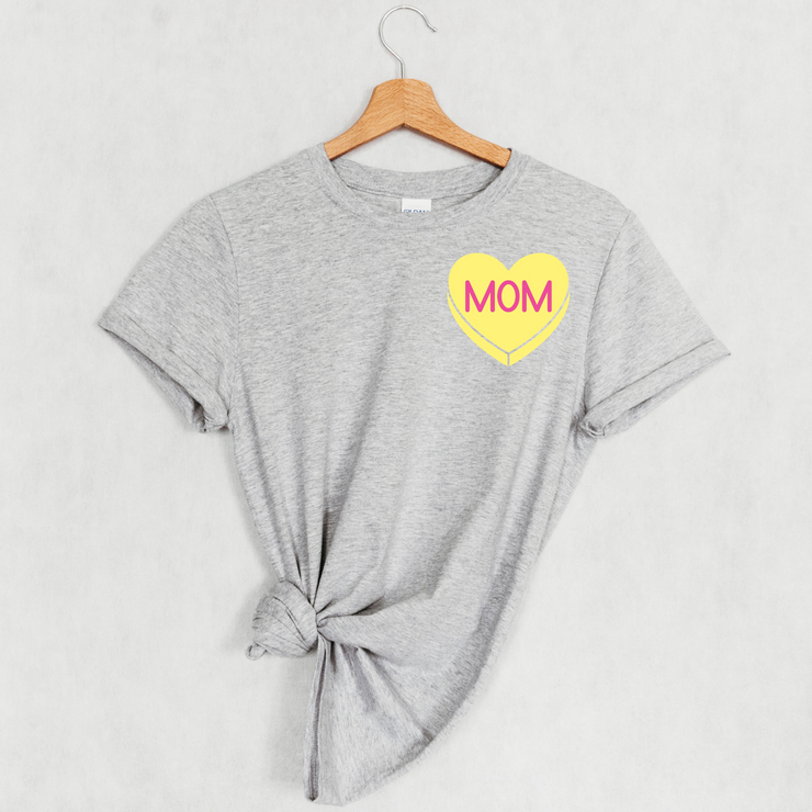 MOM Candy Heart Icon Tee