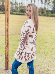 Tribal Plush Cardigan