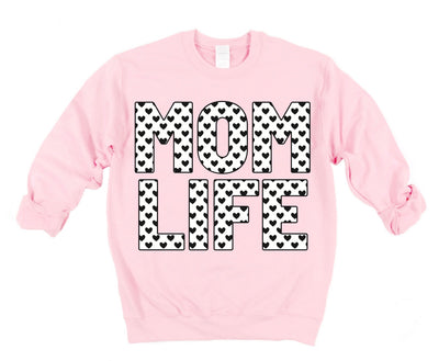 MOMLIFE Heart Sweatshirt - Light Pink (PREORDER)