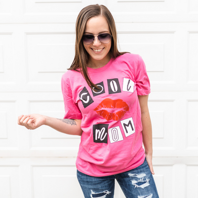 Cool Mom Burn Book Tee - Pink
