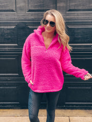 Cameron Pullover Sherpa - Pink
