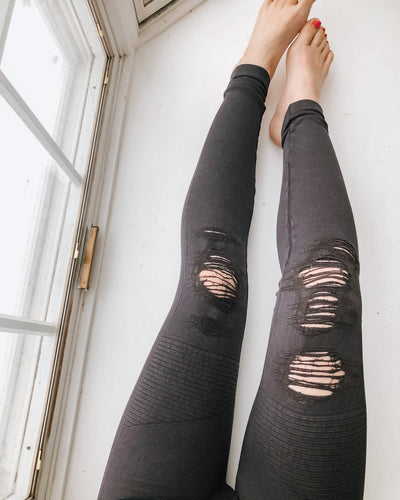 Vintage Destroyed Leggings (PREORDER) - WILL SHIP BY 4/8