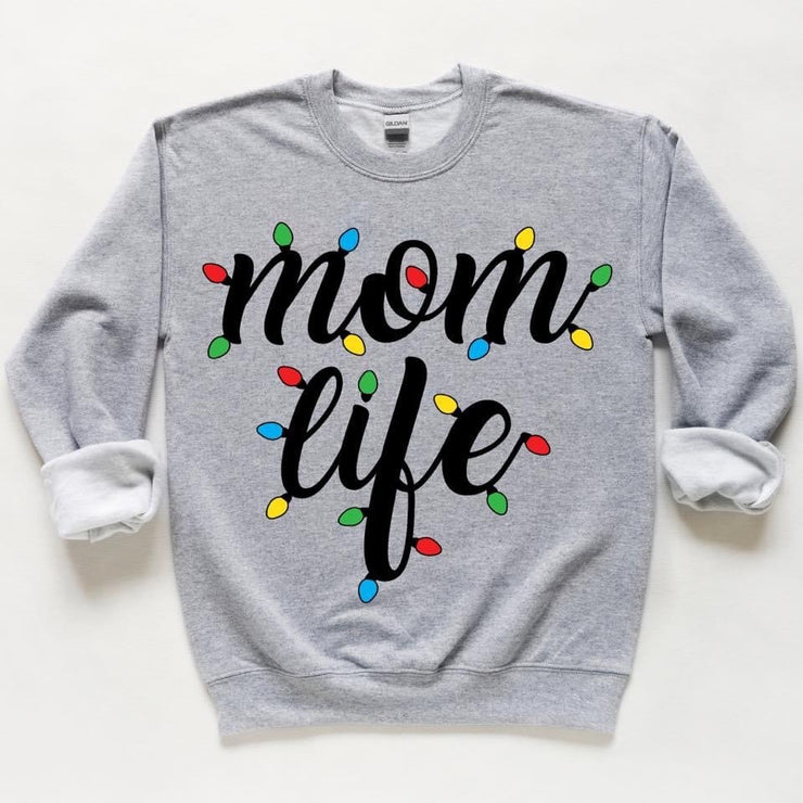 Momlife Christmas Lights Sweatshirt