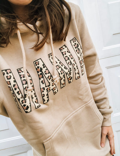 MAMA Neutral + Rose Gold Leopard Sweatshirt