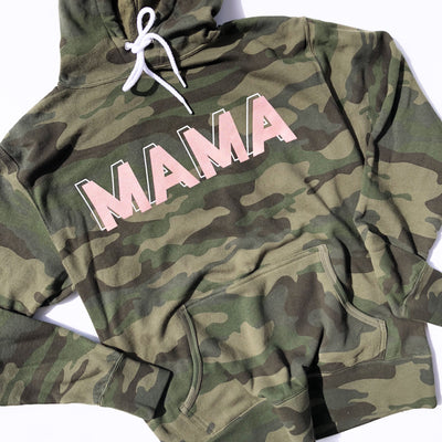 Camo + Rose Gold MAMA Pullover Hoodie