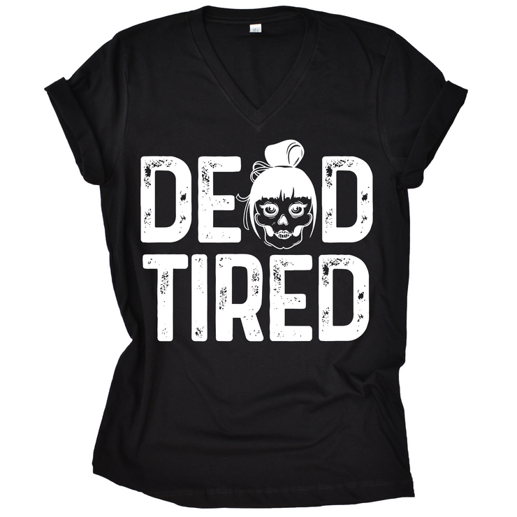 Dead Tired Slub V-Neck Tee (PREORDER)