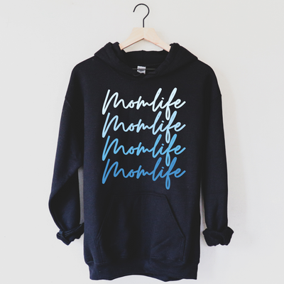 Momlife Ombre Hoodie - Blue