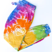 Mom Heart Icon Tie Dye Joggers