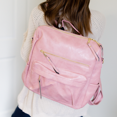 Hailey Convertible Backpack - Pink