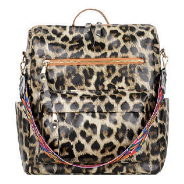 Hailey Convertible Backpack - Leopard