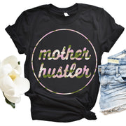 Mother Hustler Tee with Blush Camo Print
