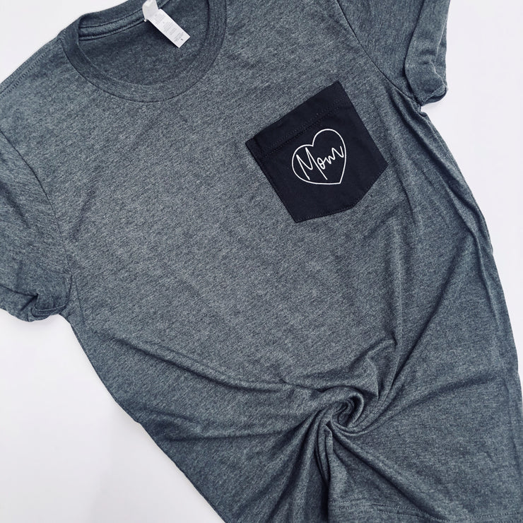 MOM Two-Toned Pocket Tee