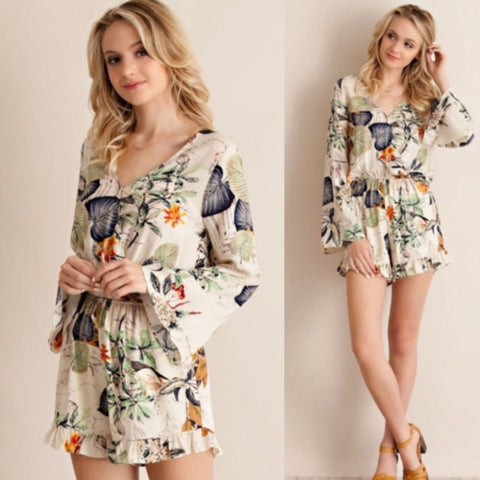 Tropical Sunrise Romper