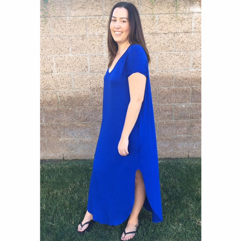 Royal Blue Sleeve Dress