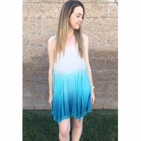 Ombre Tassel Dress