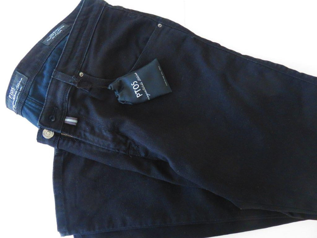 PT01 Pantaloni Torino - Model PT05 - black jeans mod. Dock winter cotton