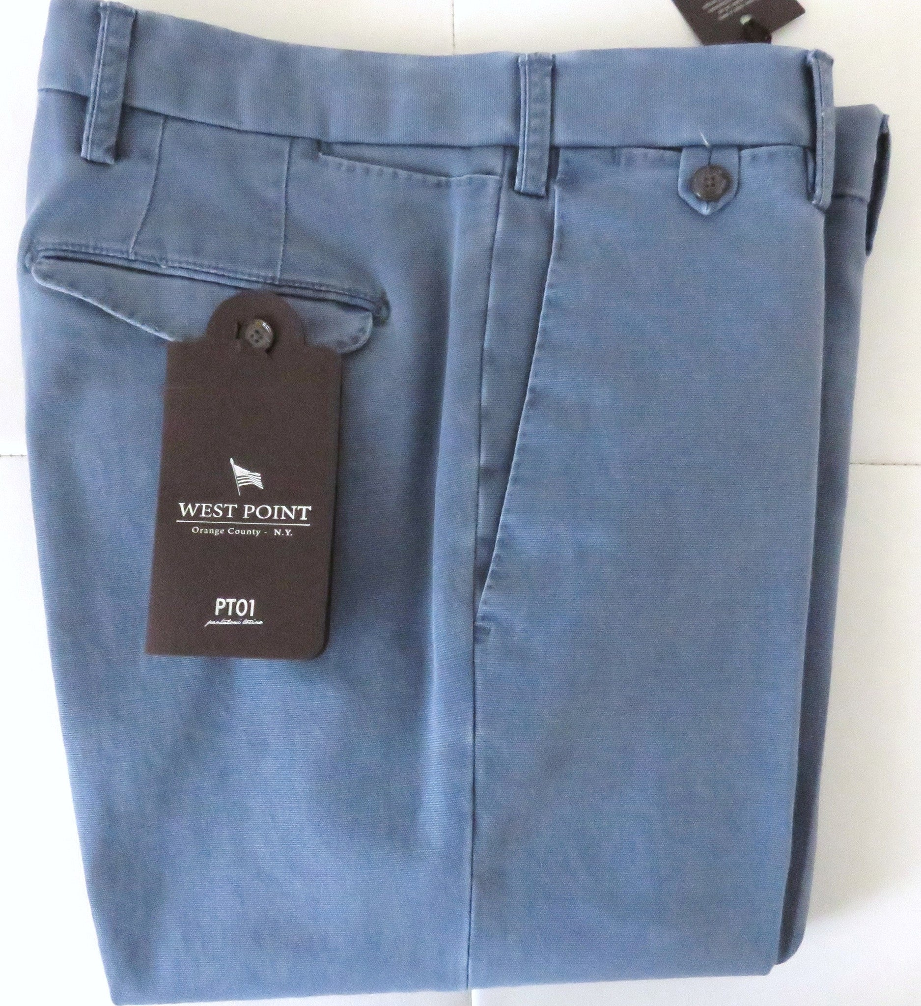 PT01 Pantaloni Torino - Model West Point ocean