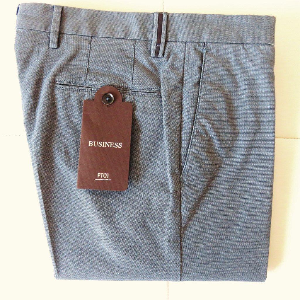 PT01 Pantaloni Torino - Business luxury cotton - Grey