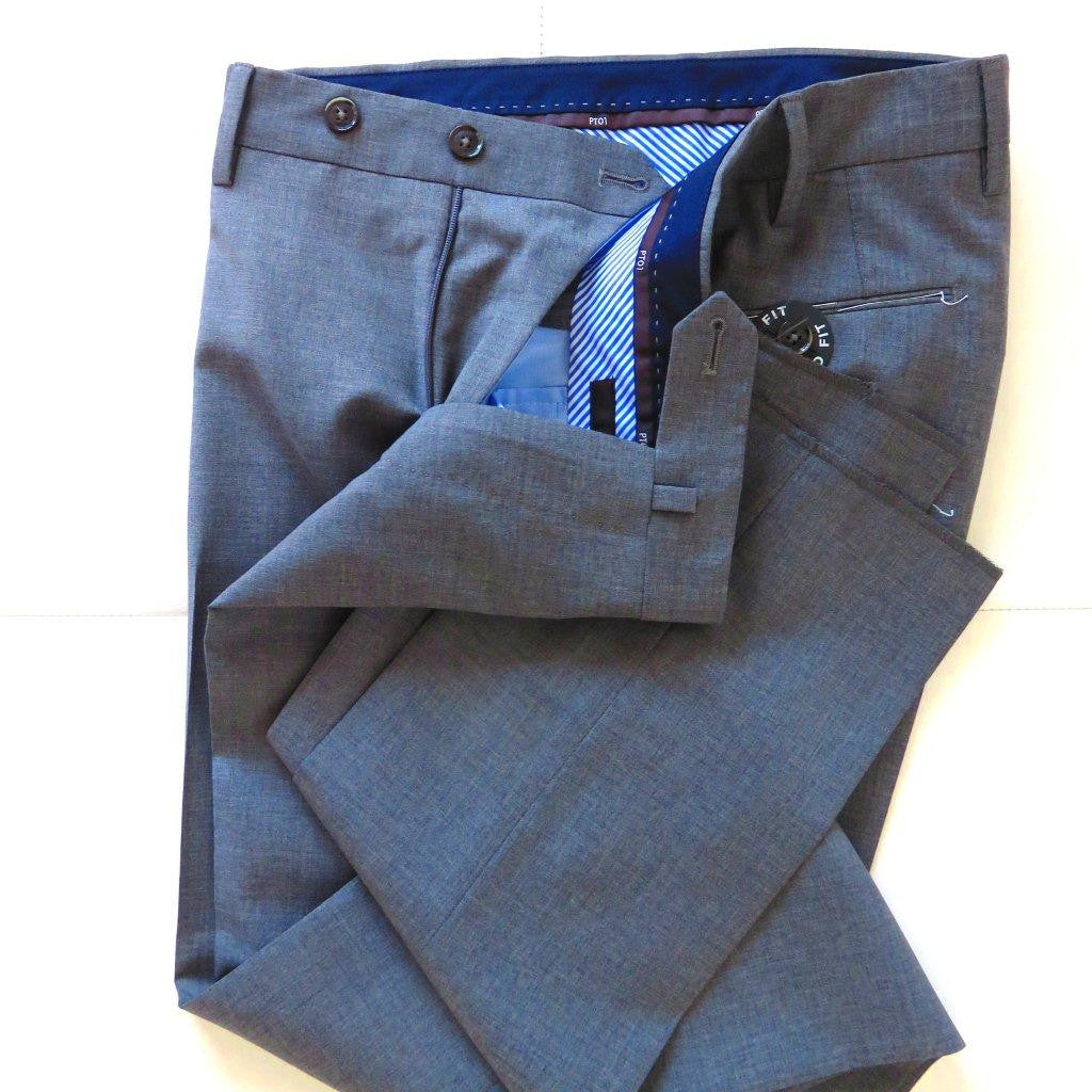 PT01 Pantaloni Torino - Luxury  virgin wool 100% - Grey