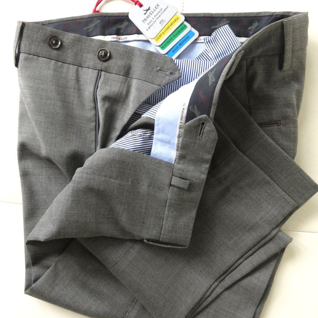 PT01 Pantaloni Torino - Model Summer Traveller - wool - Grey pearl