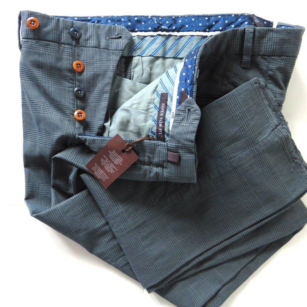 PT01 Pantaloni Torino - Model Colour - Grey chess