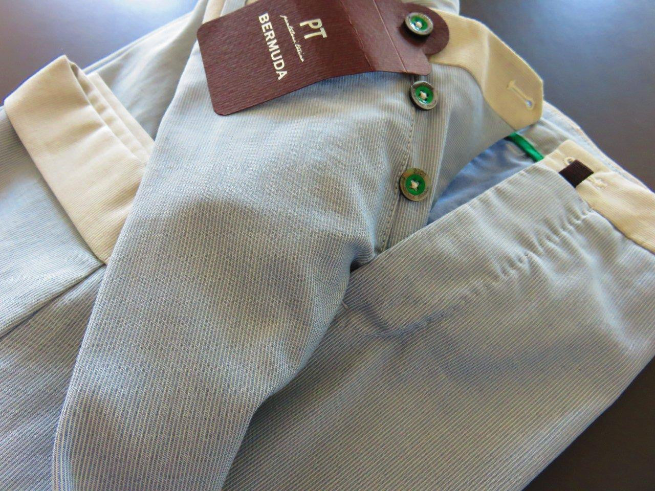 PT01 Pantaloni Torino - Bermuda luxury collection - double twisted