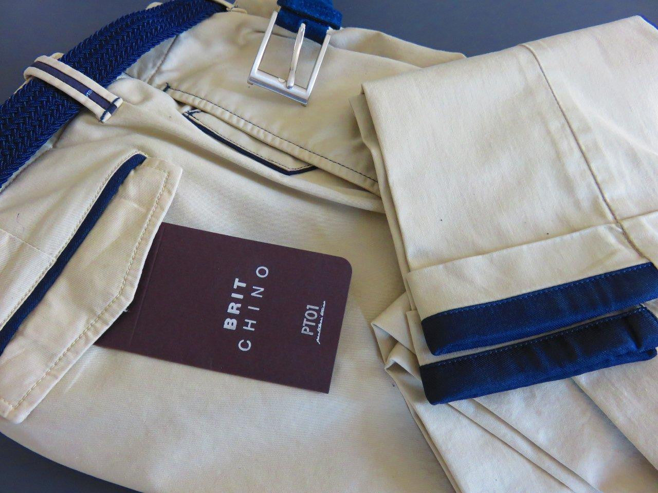PT01 Pantaloni Torino - Brit Chino with belt (various colours)