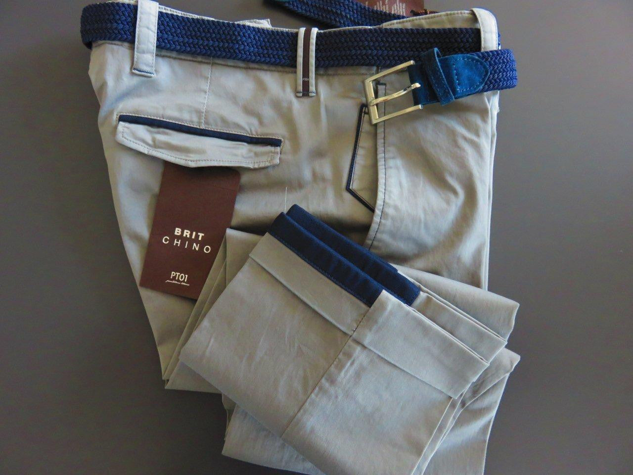 PT01 Pantaloni Torino - Model Brit Chino with belt