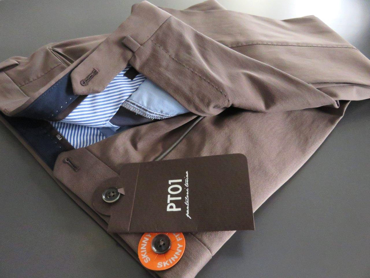 PT01 Pantaloni Torino - Business luxury cotton - Cappuccino