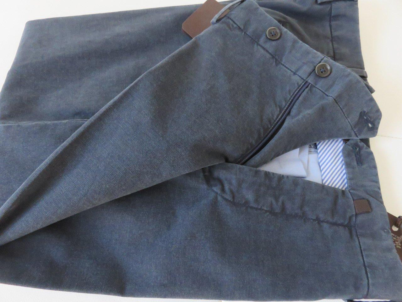 PT01 Pantaloni Torino - Business luxury cotton - Blue