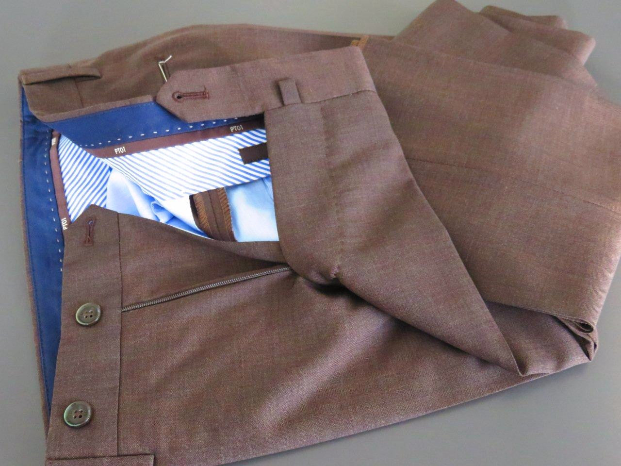 PT01 Pantaloni Torino - Luxury  virgin wool - Brown