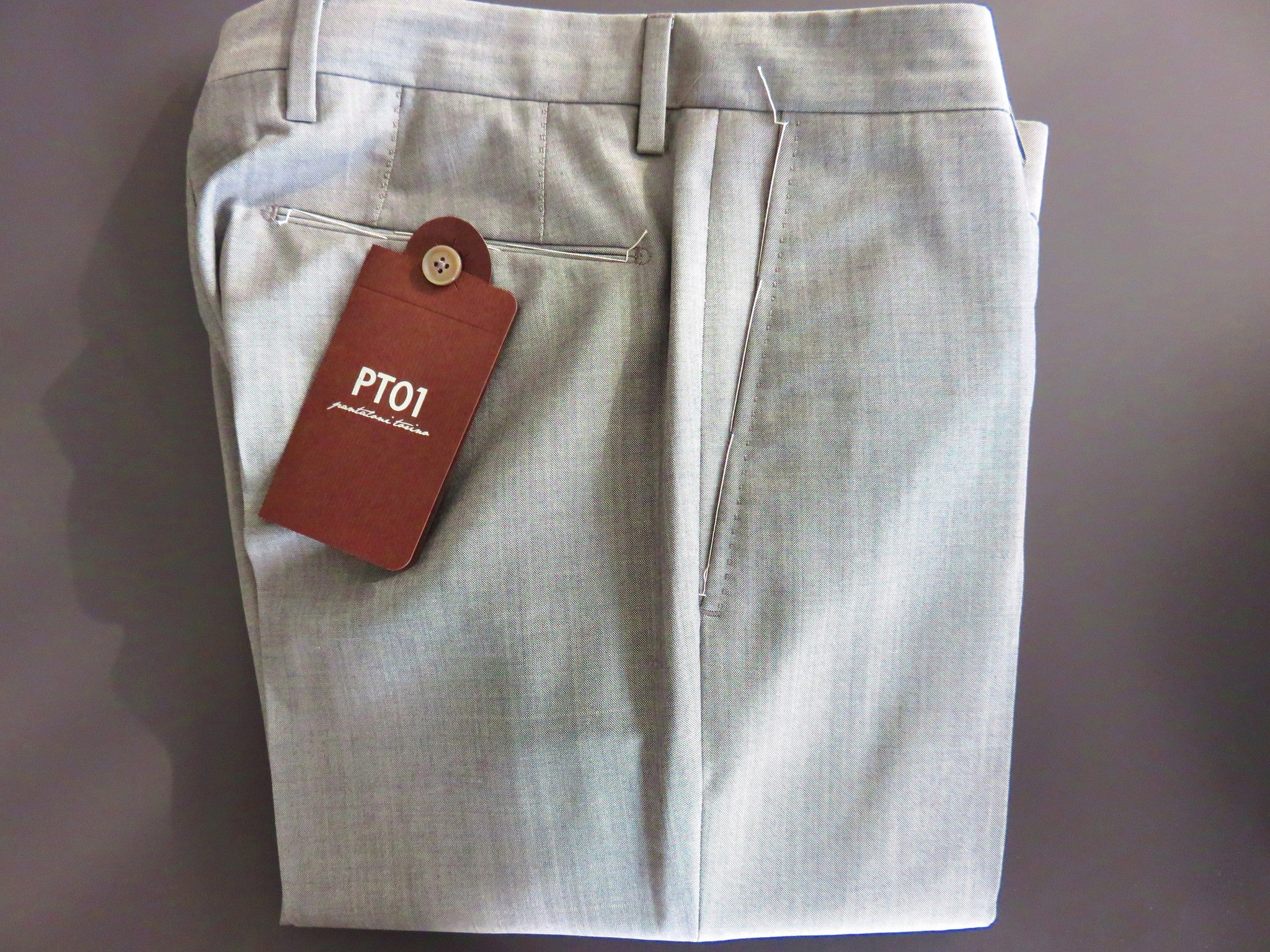PT01 Pantaloni Torino - Luxury Mohair + Virgin Wool - Pearl Grey