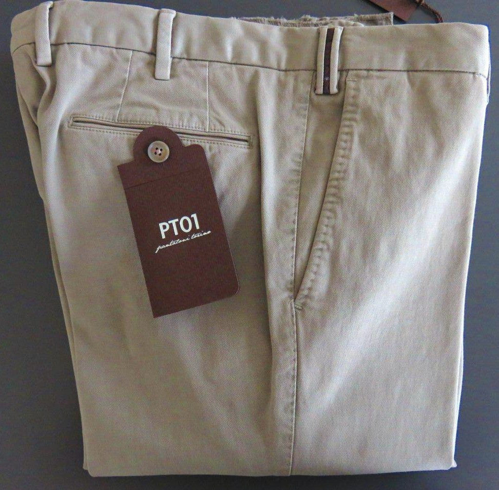 PT01 Pantaloni Torino - Model Business - Light turtledove