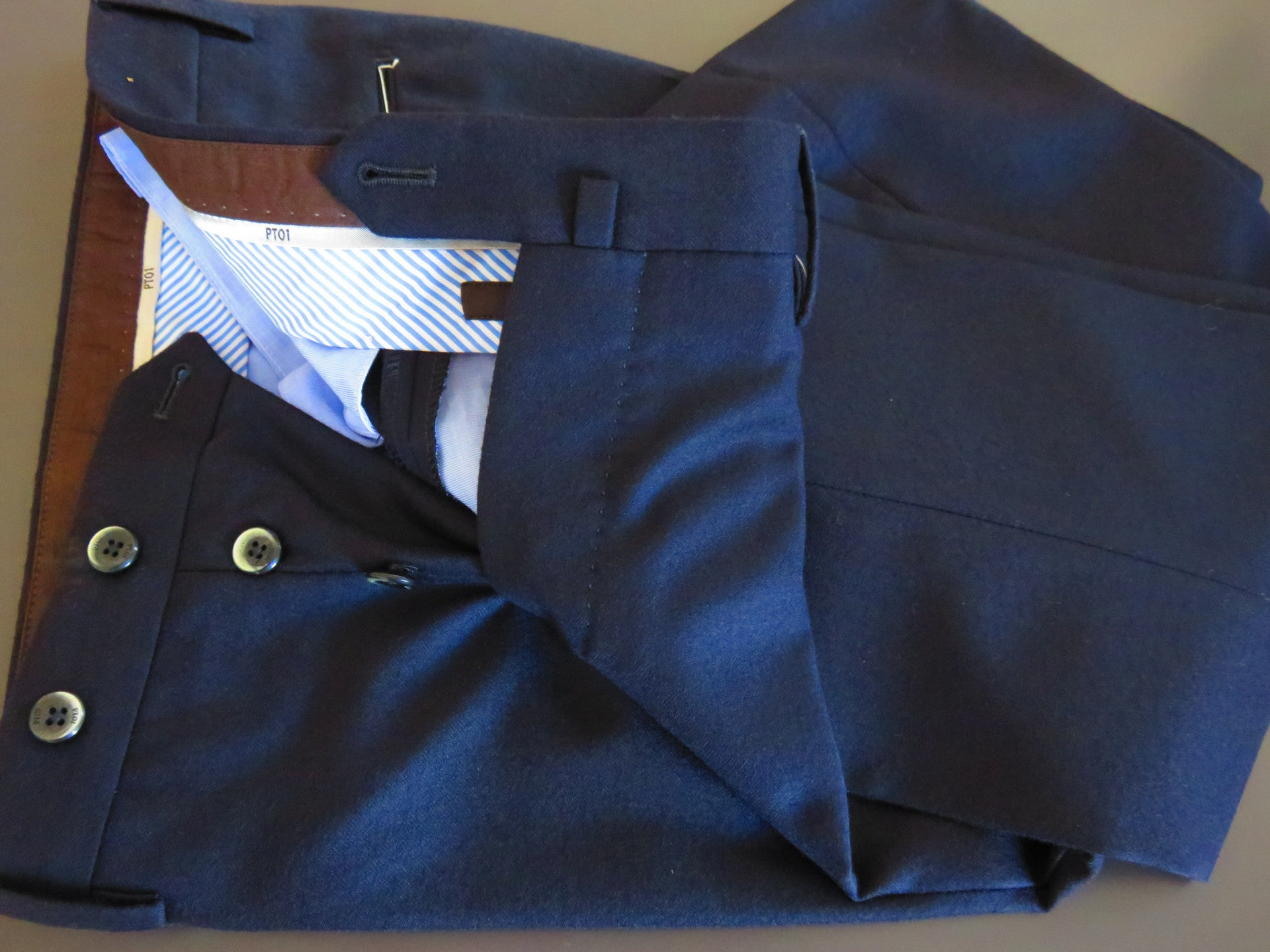 PT01 Pantaloni Torino - Luxury 100% first quality virgin wool (blue night)