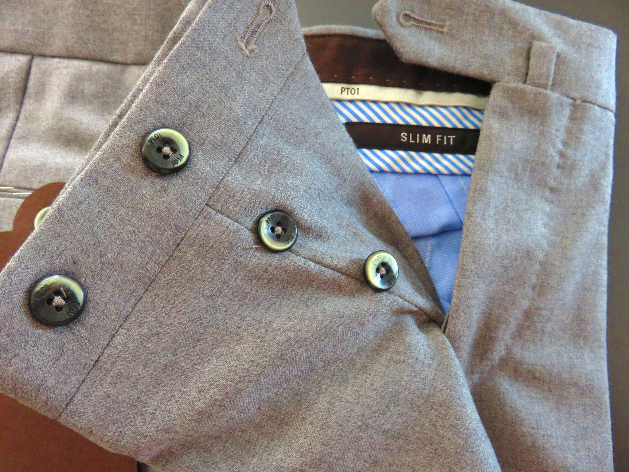 Pantaloni Torino - PT01 Wool Luxury (pearl grey)