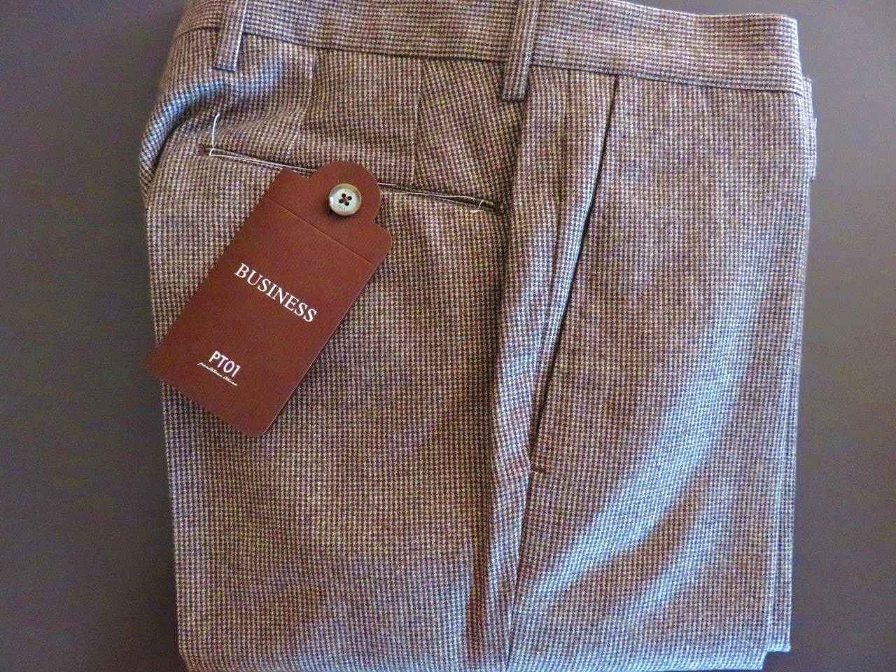 PT01 Pantaloni Torino - Luxury 100% first quality virgin wool (beige brownish)
