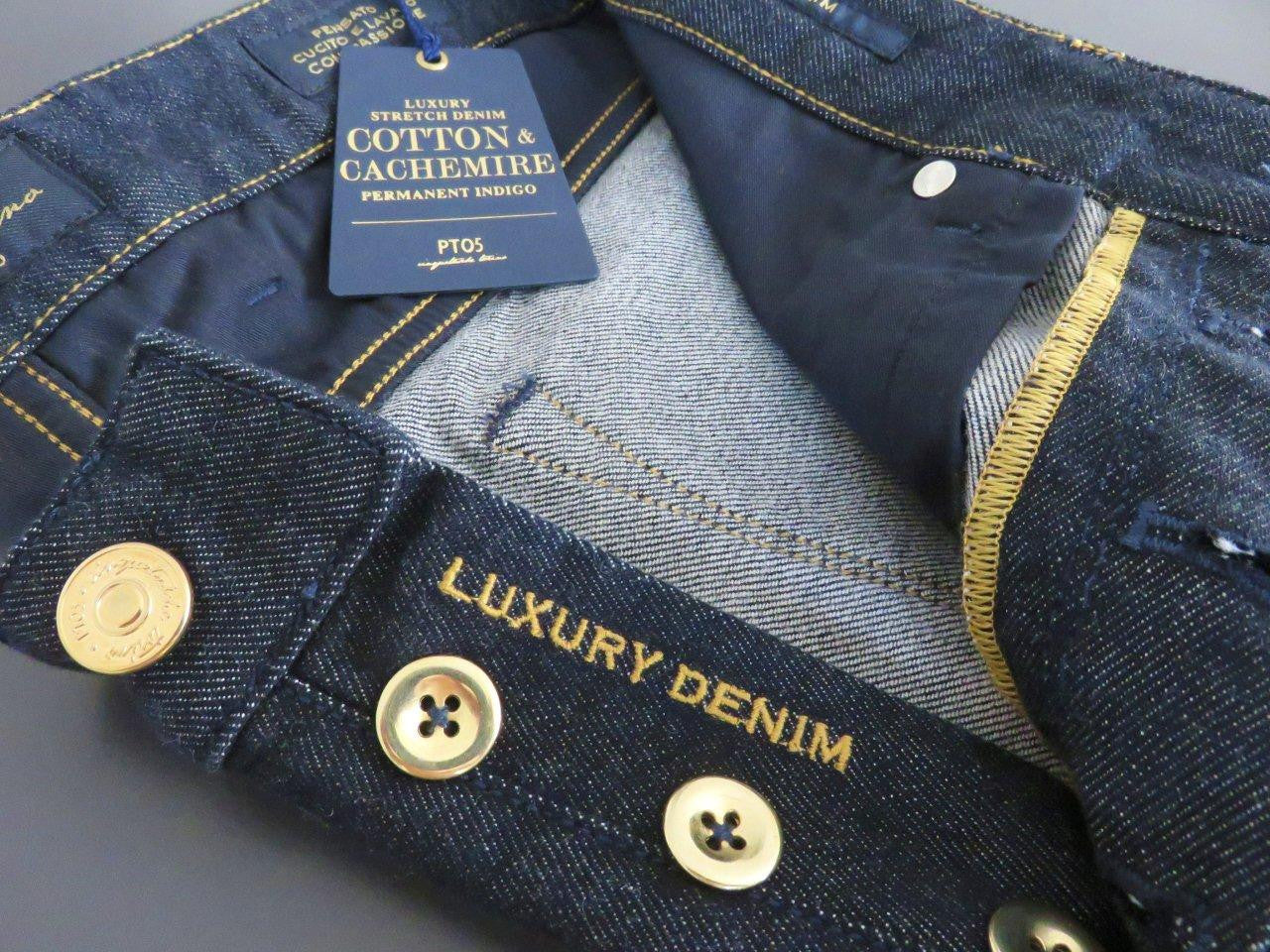 PT01 Pantaloni Torino - PT05 - Luxury Cashmere Stretch bluejeans