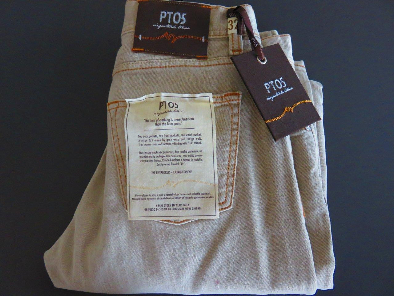 Pantaloni Torino - PT05 Denim washed beige